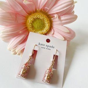 Kate Spade Champagne 🍾 Earrings Bran New